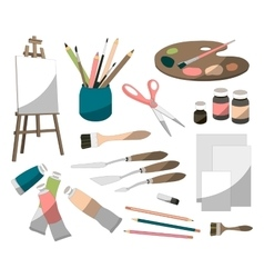 Painter icons set vector