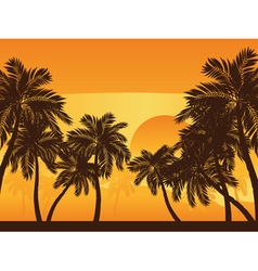 Palm Tree at Sunset2 vector image