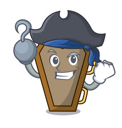 Pirate coffin character cartoon style vector