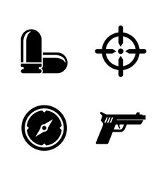 Pistol shooting gun simple related icons vector