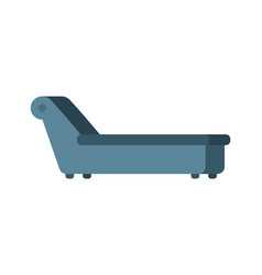 psychologist couch isolated psychotherapist vector image