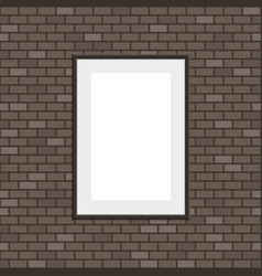 seamless brick wall with frame vector image