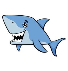 Shark fish cartoon character vector