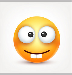 smileyemoticon yellow face with emotions facial vector image