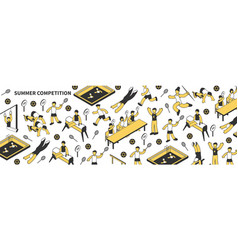 summer competition isometric pattern vector image