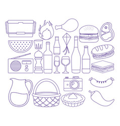 Summer picnic design vector