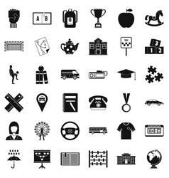 Taxi icons set simple style vector