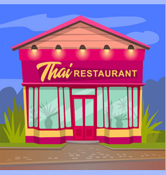 Thai restaurant with asian style dishes thailand vector