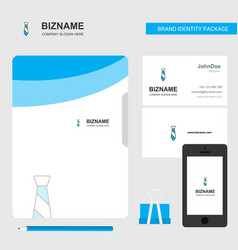 tie business logo file cover visiting card and vector image