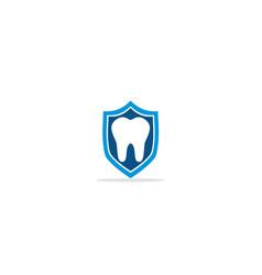 tooth dental shield protect logo vector image
