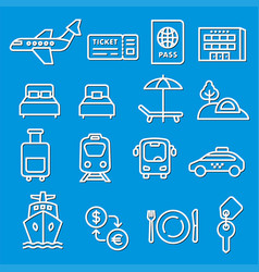 Travel concept icons vector