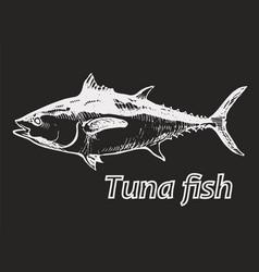 tuna neg vector image