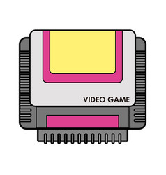 Videogame cassette isolated vector