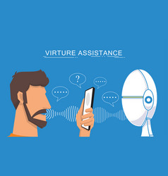 Virtual assistant and voice recognition vector