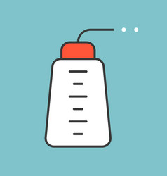 wash bottle filled outline icon vector image