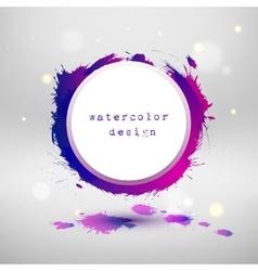 Watercolor design circle template vector