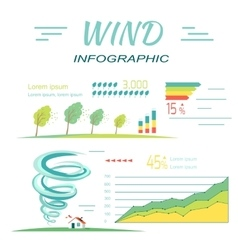 Wind infographics tornado and hurricanes banners vector