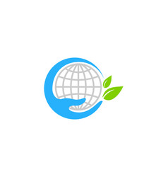 World care logo icon design vector