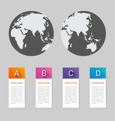 world map pointer marks icon flat web sign symbol vector image vector image