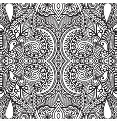 Black and white seamless pattern hand drawing vector image