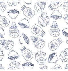 bottle pattern vector image vector image