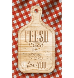 Bread cutting light board red vector