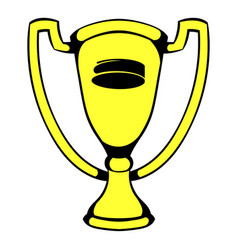 gold shiny trophy cup award icon icon cartoon vector image vector image