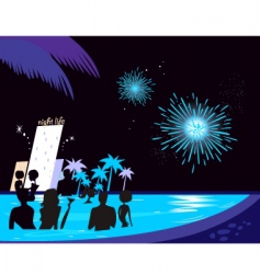 water party night vector image vector image
