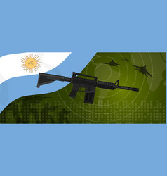 argentina military power army defense industry war vector image