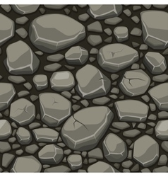 Cartoon stone texture in gray colors seamless vector image vector image