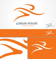 Running Gym Sport Man Logo Template vector image vector image