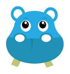 avatar of hippopotamus vector image