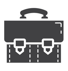 briefcase solid icon business and portfolio vector image