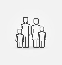family with two children icon vector image