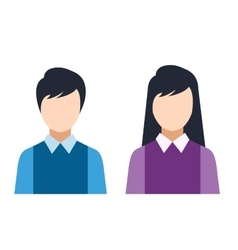 Man and woman silhouette icons vector image