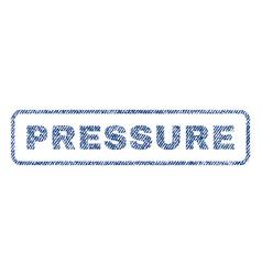 Pressure textile stamp vector