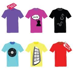 t-shirt set on sale color vector image