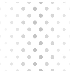 Abstract dotted gray and white pattern vector image
