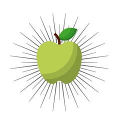 green apple icon vector image