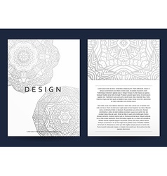 Magazine with silver mandala Realistic brochure vector image vector image