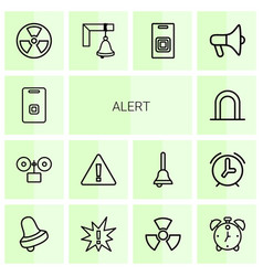 14 alert icons vector