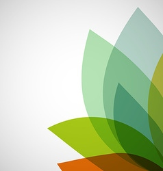 Abstract background transparent leaves vector