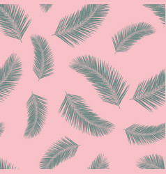 abstract exotic palm leaf plants seamless vector image