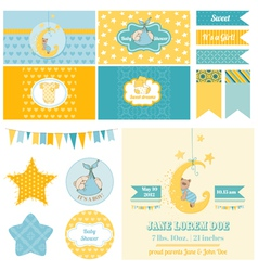 Baby Shower Sleeping Bear Theme vector image