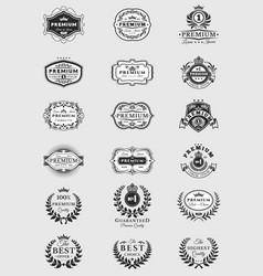 badges stickers premium quality isolated on white vector image
