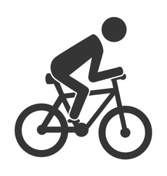 Bike rider cycling icon vector