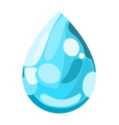 Blue water drop icon vector