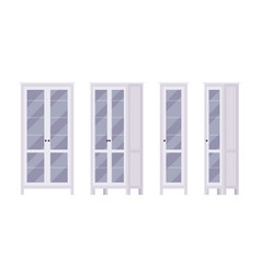 bookcase in white vector image