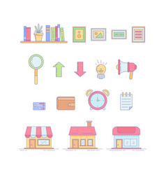 business desktop objects for office vector image
