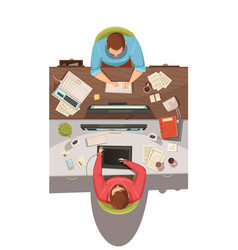 Business meeting top view design concept vector